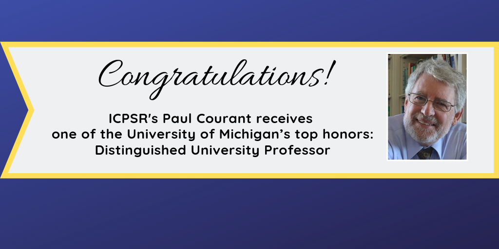 Congratulations to Paul Courant with photo of Paul Courant