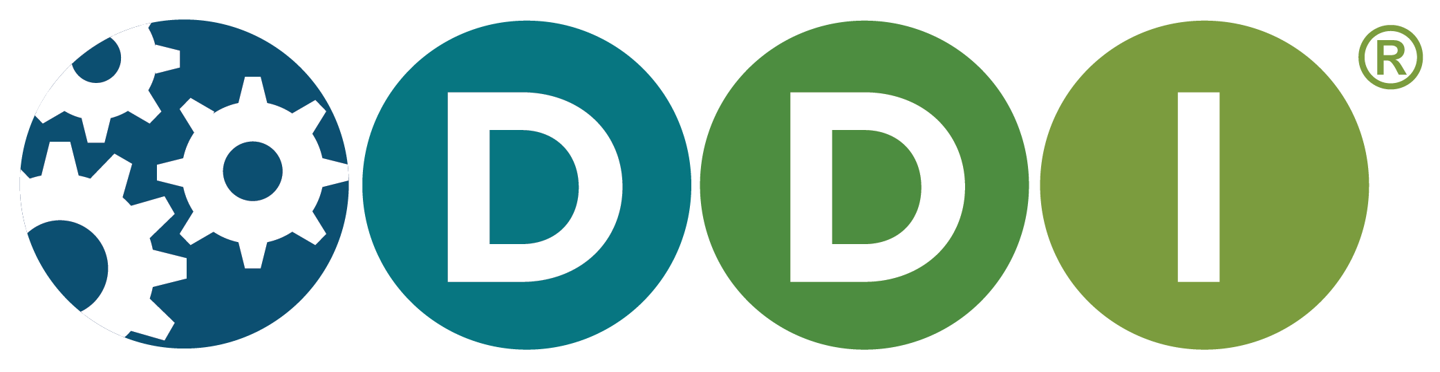 DDI logo - white gears in blue background with teal, green, and lime green circles each with a white letter of DDI in them