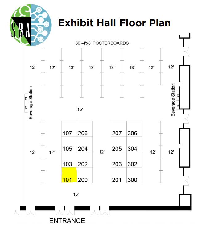 2020 SRA Biennial Meeting Exhibit Hall Floor Plan