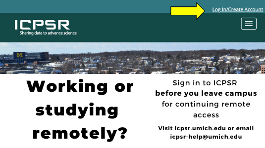 Log into your ICPSR MyData account soon to retain access while working or studying remotely